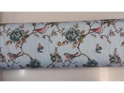 Хидрофобиран плат с птиче и цветя 3 плат Турция